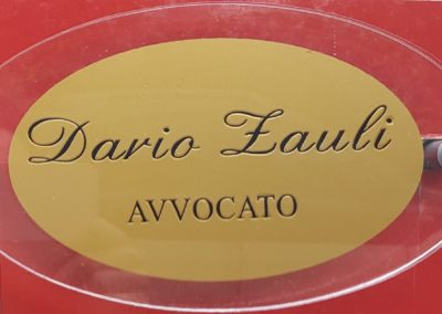 TARGA Avvocato Dario Zauli
